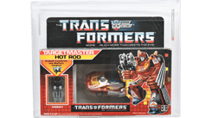 Transformers 1987 G1 Hot Rod Targetmaster AFA