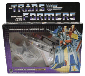 Starscream Vintage G1 Transformers Hasbro Action Figures