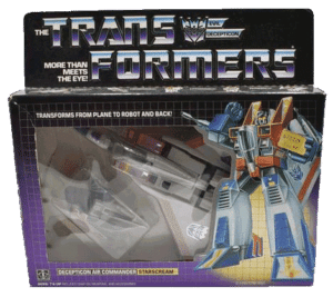 Starscream Hasbro G1 Transformers Vintage Toy