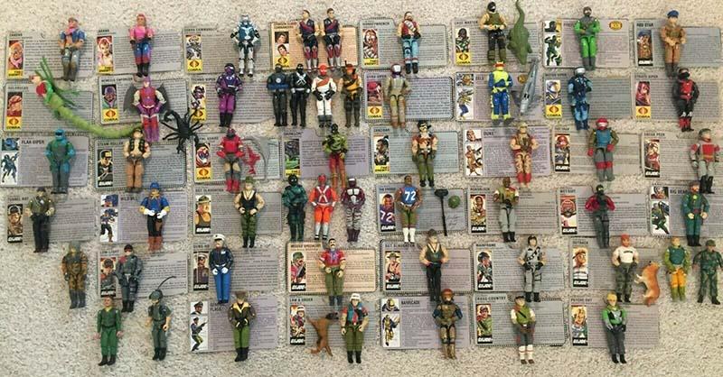 G.I. Joe Hasbro 1982 Actions Figures