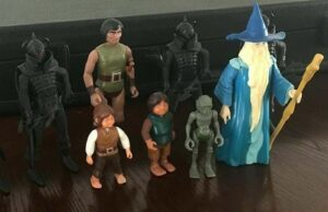 Lord of the Rings Knickerbocker 1979 Actions Figures