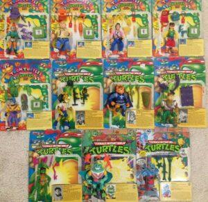Playmates Teenage Mutant Ninja Turtle Action Figures
