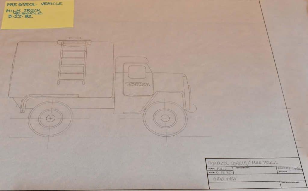 Tonka Prototype Engineering Drawing