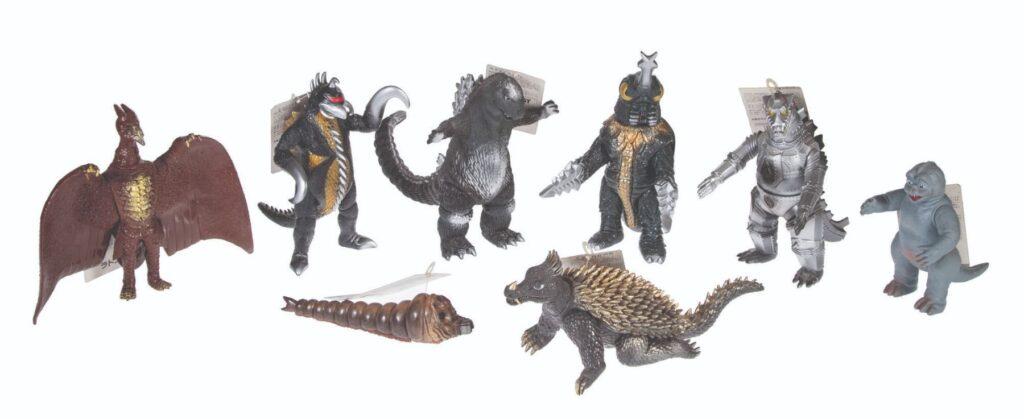 Banadai Godzilla Figures