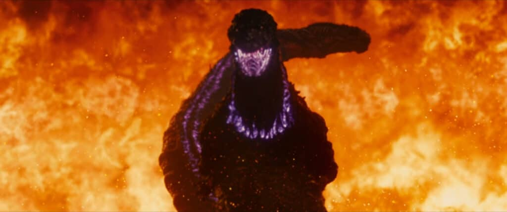 Shin Godizilla after he releases his heat rays in Shin Godzilla (2016)
