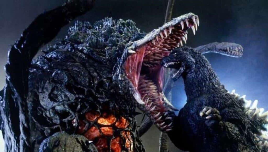 Biollante bites down on Godzilla in Godzilla vs. Biollante (1989)