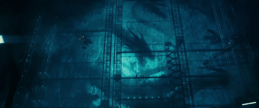 King Ghidorah/Monster Zero frozen in the Antartic ice in Godzilla: King of the Monsters (2019)