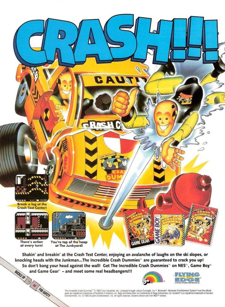 LJN's The Incredible Crash Dummies video games