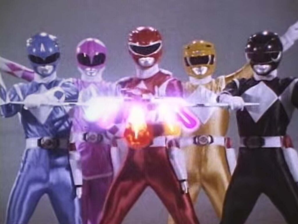 The original five Mighty Morhpin Power Rangers