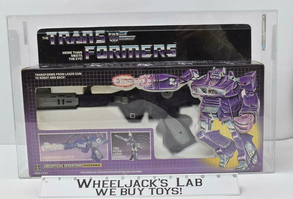 Hasbro's 1985 Transformers Shockwave with an 85 AFA Grade