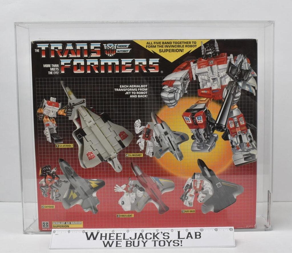 Hasbro's 1986 Transformers Superion with an 80 AFA Grade