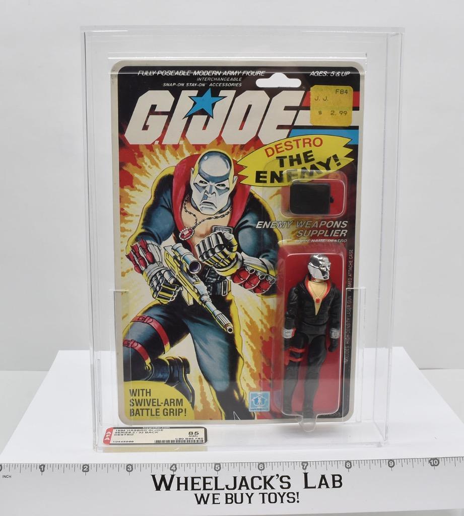 Hasbro's 1984 G.I. Joe Destro with an 85 AFA Grade