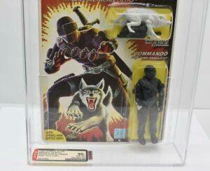 AFA Graded Hasbro 1985 GI Joe Snake Eyes with Timber