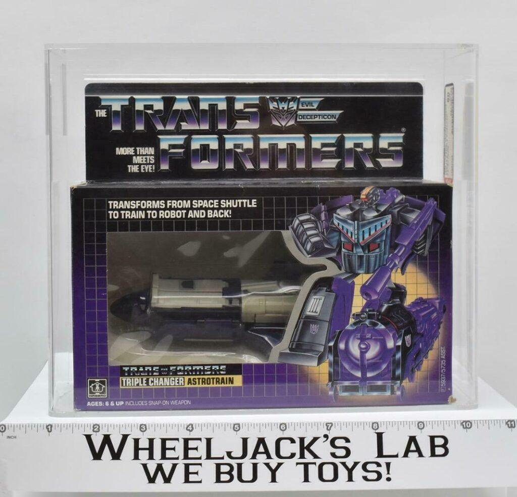 Hasbro 1985 Transformers Astrotrain AFA graded